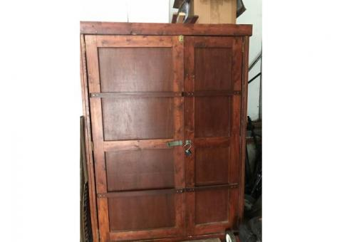 Horse Tack Trunk Cabinet  with saddle rack